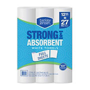 Berkley Jensen Full Sheet White Paper Towels, 12 pk.