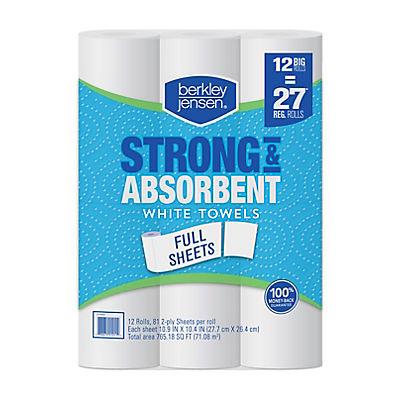 Berkley Jensen Full Sheet White Paper Towels, 12 pk.