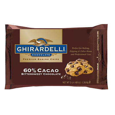Ghirardelli 60% Bittersweet Cacao Chocolate Chips, 3 lbs.