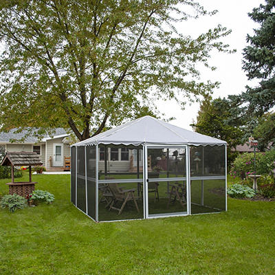 "Casita 11'7"" Square Screenhouse - White"