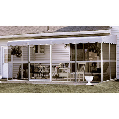 "Patio-Mate 17'1"" x 8'6"" Screened Enclosure - White/Gray"