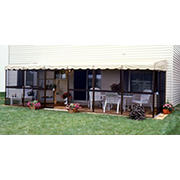 "Patio-Mate 25'6"" x 8'6"" Screened Enclosure - Chestnut/Almond"