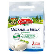 Galbani Fresh Mozzarella Cheese Pouches, 3 pk/6 oz.