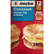 Jimmy Dean Frozen Sausage, Egg & Cheese Croissant Sandwiches, 12 ct.