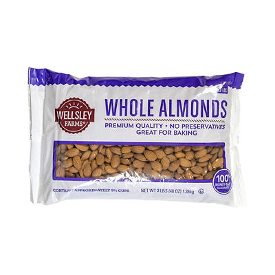 Wellsley Farms Whole Almonds, 48 oz.