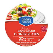 Berkley Jensen Heavyweight Premium Plastic Plates, 20 ct.