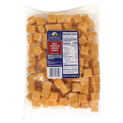 Great Lakes Mild Cheddar Cheese Cubes, 2 lbs.