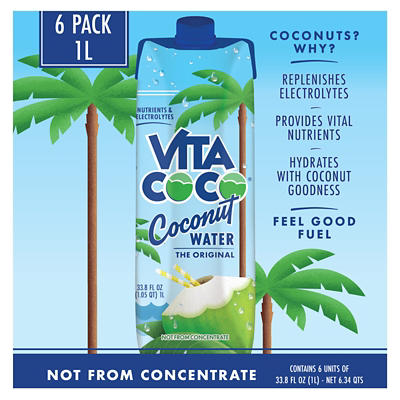 Vita Coco Pure Coconut Water, 6 pk./1L