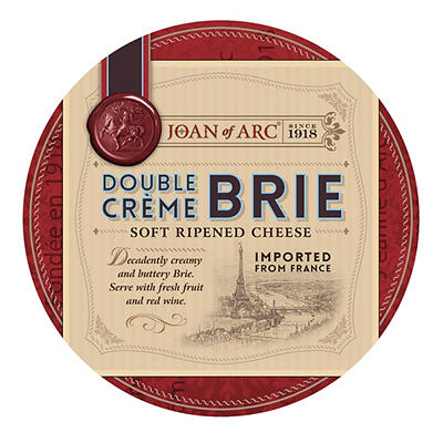 Joan of Arc Double Creme Brie Cheese, 9 ct./11 oz.