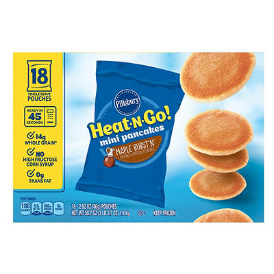 Pillsbury Heat-N-Go Maple Burst'n Mini Pancakes, 18 pk./2.82 oz.