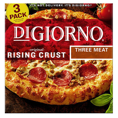 "DiGiorno Rising Crust Three Meat 12"" Pizza, 3 pk."