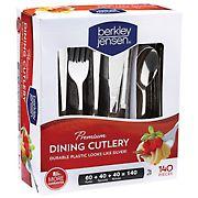 Berkley Jensen Premium Plastic Cutlery, 140 ct.
