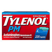 Tylenol PM Extra Strength Caplets, 225 ct.