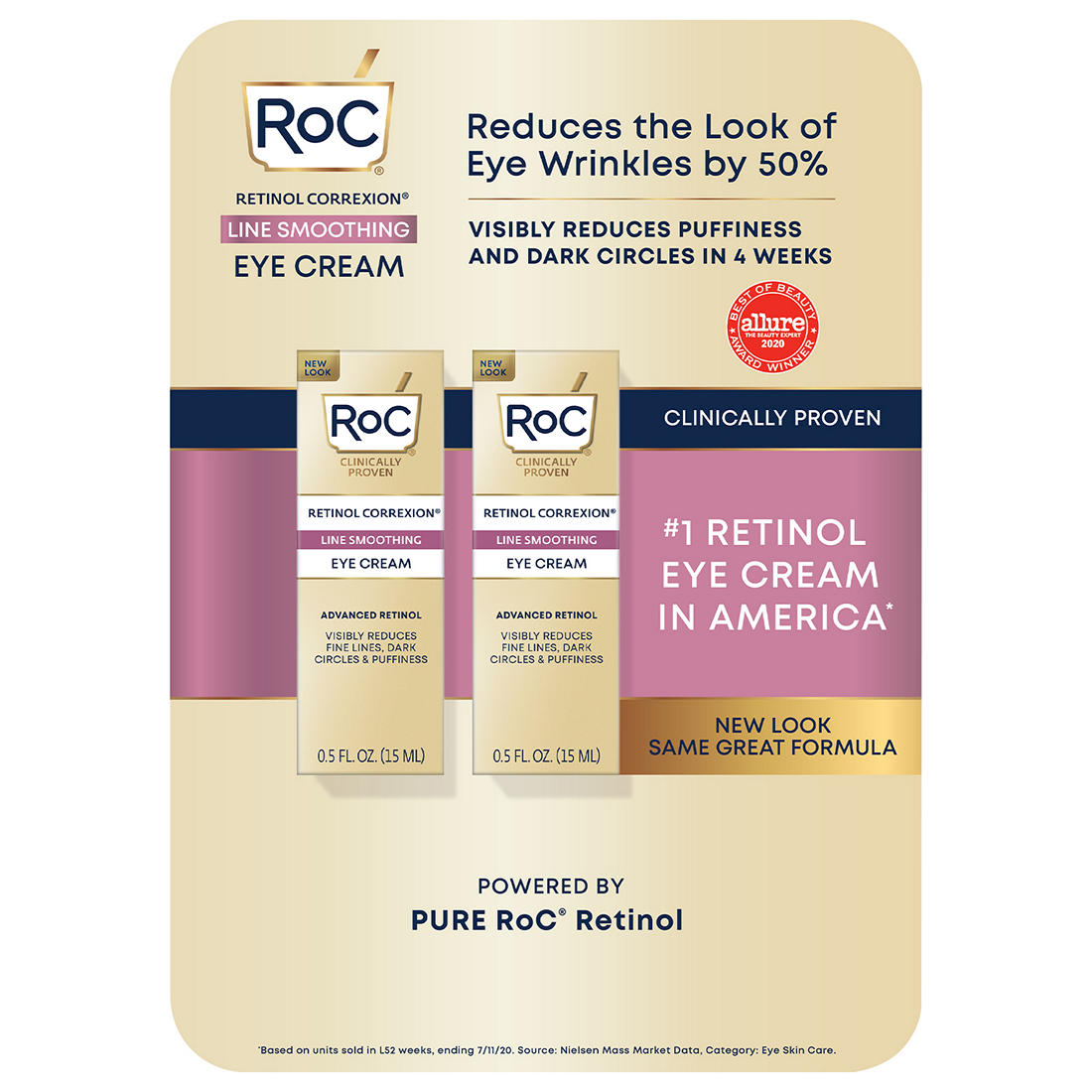 RoC RETINOL CORREXION Eye Cream, 2 pk