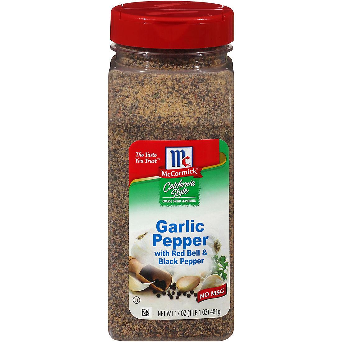 McCormick California Style Garlic Pepper, 17 oz