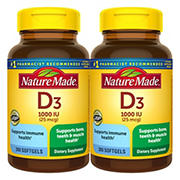 Nature Made Vitamin D3 Tablets, 1000 IU, 300 ct.