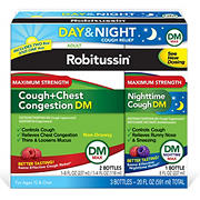 Robitussin DM Max Cough and Chest Congestion Day and Night, 20 oz.