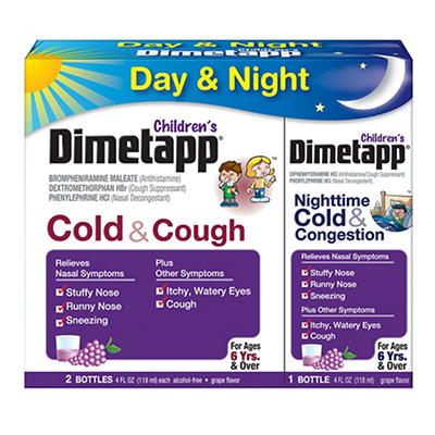 Dimetapp Children's Cold and Cough Day and Night and Congestion Night,