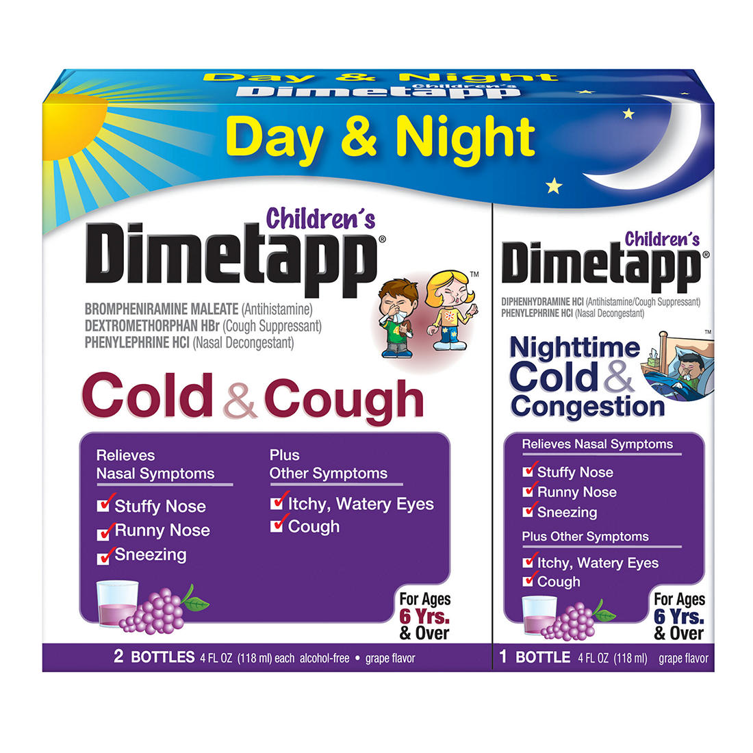 Dimetapp Children S Cold And Cough Day And Night And Congestion Night 3 Pk