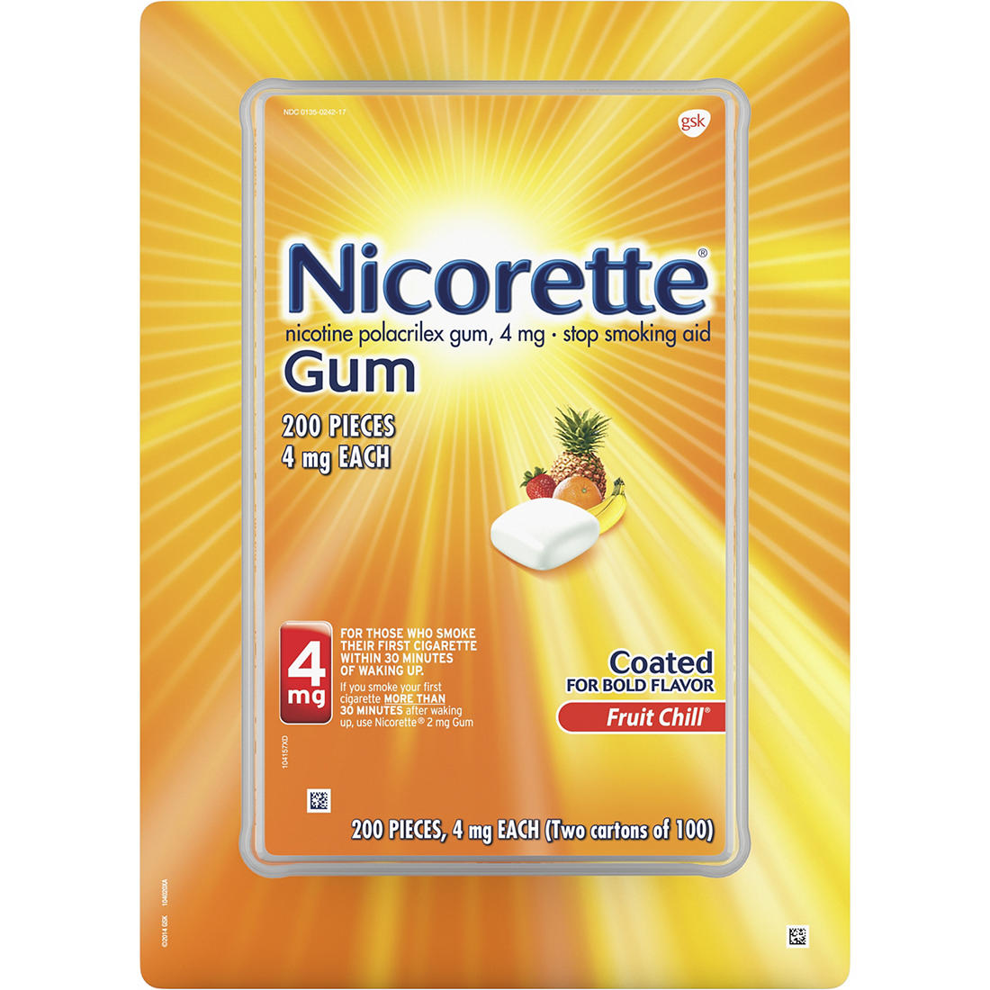 image regarding Nicorette Printable Coupon identified as Nicorette 4mg Fruit Chill Gum, 200 ct.