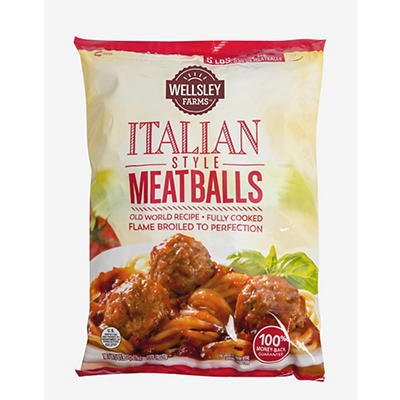 Wellsley Farms Italian-Style Meatballs, 4 lbs.