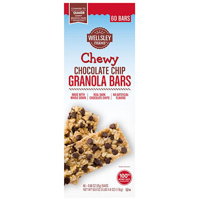 Wellsley Farms Chewy Chocolate Chip Granola Bars, 60 ct.