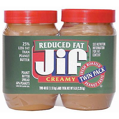 Jif Reduced Fat Creamy Peanut Butter, 2 pk./40 oz.