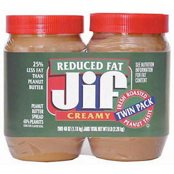 Jif reduced fat peanut butter nutritional info