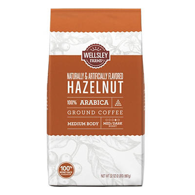 Wellsley Farms Hazelnut Ground Coffee, 32 oz.