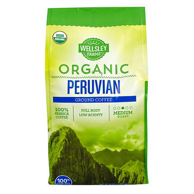 Wellsley Farms Organic Peruvian Ground Coffee, 32 oz.