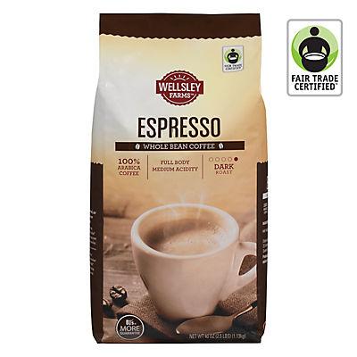Wellsley Farms Espresso Whole Bean Coffee, 40 oz.