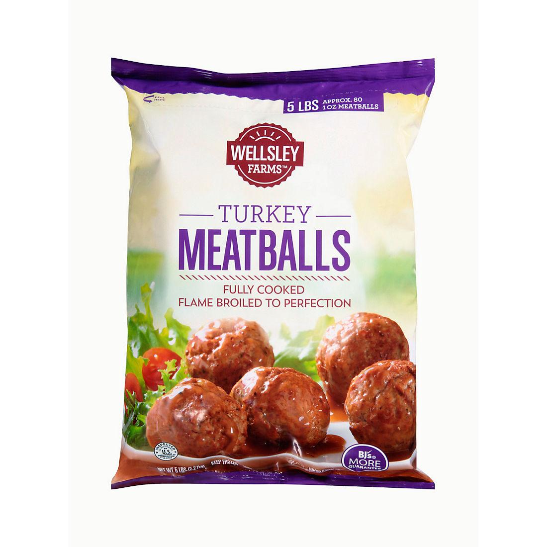 Wellsley Farms Turkey Meatballs, 5 lbs  - BJs WholeSale Club