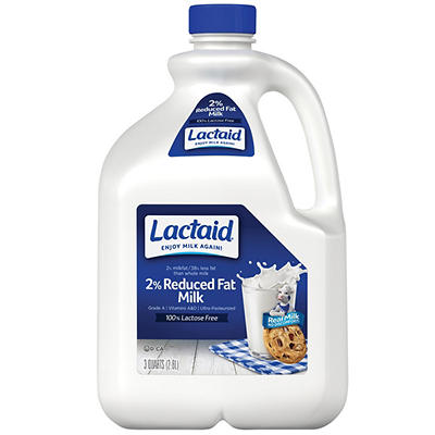 Lactaid 2% Reduced Fat Milk, 96 oz.