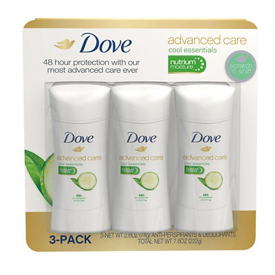 Dove Advanced Care Cool Essentials Antiperspirant Deodorant, 3 pk./2.6