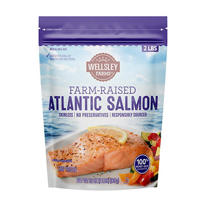 Wellsley Farms Farm-Raised Atlantic Salmon, 2 lbs.