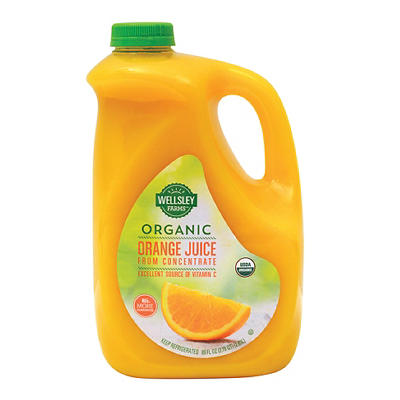 Wellsley Farms Organic Orange Juice from Concentrate, 89 fl. oz.