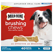 Milk-Bone Brushing Chews Daily Dental Dog Treats, Small/Medium, 40 ct.
