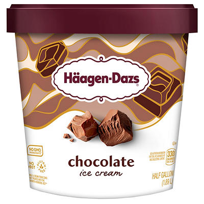 Haagen-Dazs Chocolate Ice Cream, 64 oz.