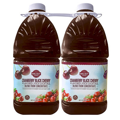 Wellsley Farms Cranberry Black Cherry Cocktail, 2 pk./96 oz.
