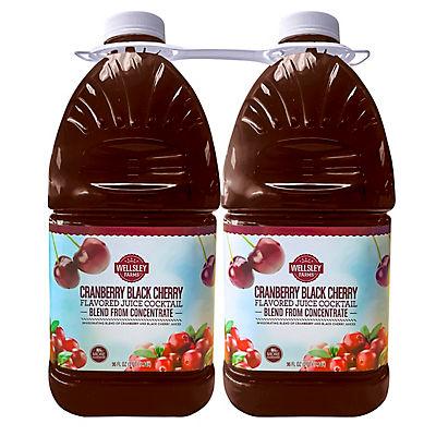 Wellsley Farms Cranberry Black Cherry Cocktail, 2 pk./96 oz.