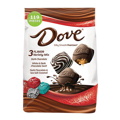 Dove Dark Chocolate Variety Stand-Up Bag, 34 oz.