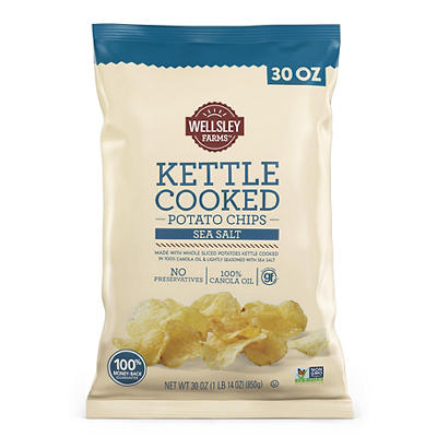 Wellsley Farms Kettle-Cooked Potato Chips, 30 oz.