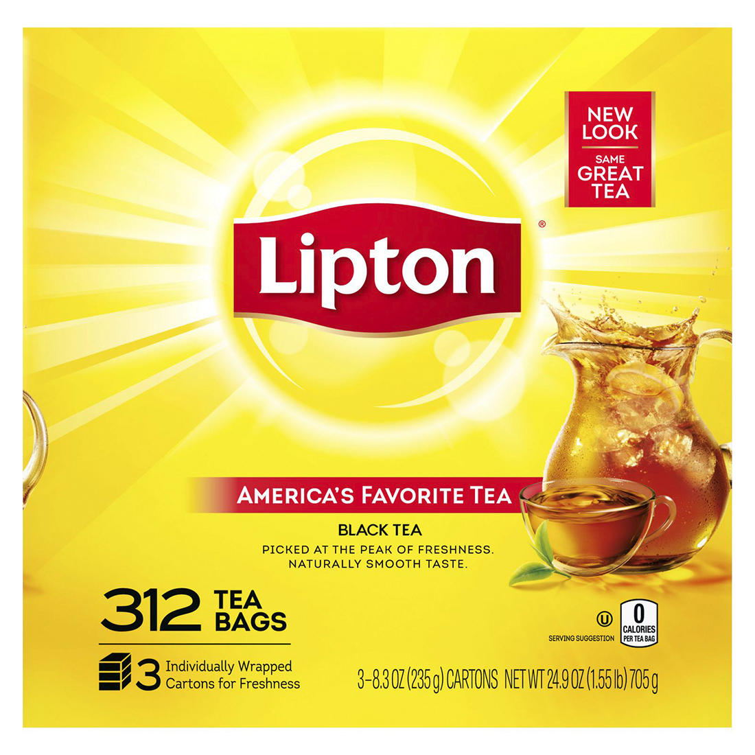 picture about Lipton Tea Printable Coupons titled Lipton Tea Baggage, 312 ct.