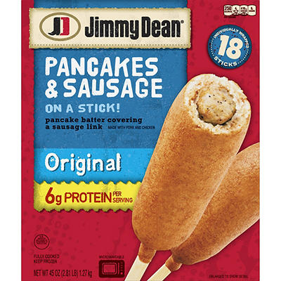 Jimmy Dean Frozen Pancakes and Sausage on a Stick, Original, 18 ct.