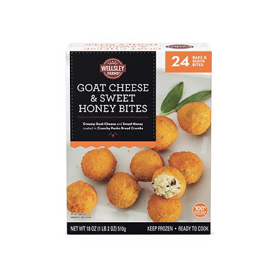 Wellsley Farms Goat Cheese and Sweet Honey Bites, 24 ct.