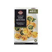Wellsley Farms Assorted Quiche, 48 ct./25 oz.