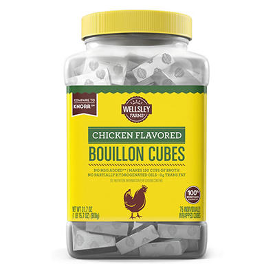 Wellsley Farms Chicken Flavored Bouillon Cubes, 75 ct.