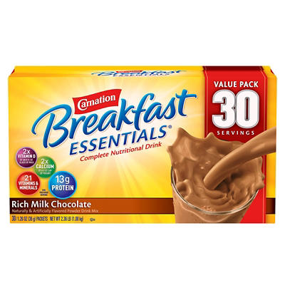 Carnation Breakfast Essentials Complete Nutritional Drink, Rich Milk C