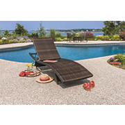 Berkley Jensen Wicker Chaise Lounge - Dark Brown