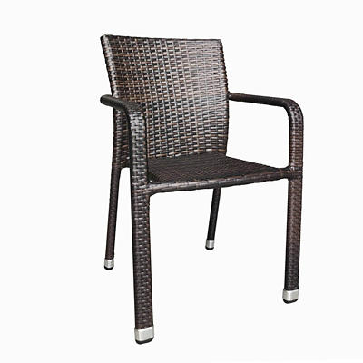 Berkley Jensen Wicker Stack Chair - Brown